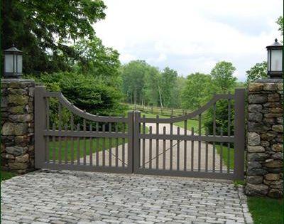 Cellular Vinyl Picket Entrance Gate   Entrance Gates, Wood Gates, and more