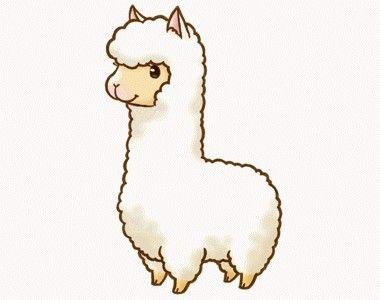 Cute Alpaca Stamp With Images Kawaii Drawings Alpaca Drawing