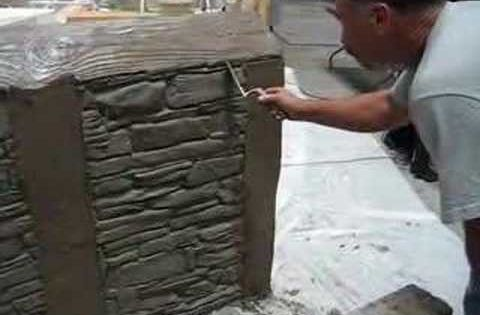 Plastic Mold Used To Create Brick Texture This Would Be
