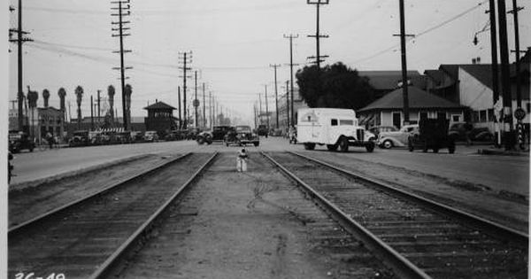 Alameda And 25th Streets Vernon Los Angeles County 1936 Automobile Club Of Southern California Collection 1892 Ca History Los Angeles County Los Angeles