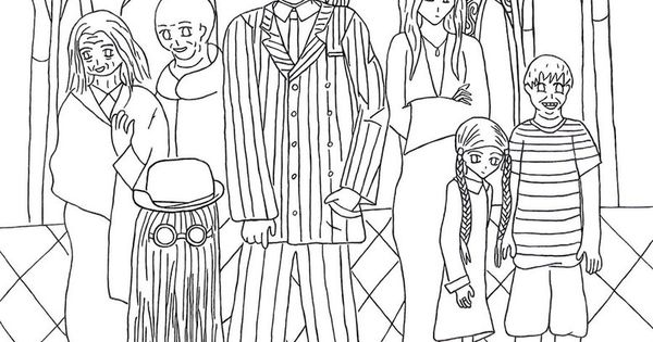 Addams Family Coloring Pages Page Of The | NASH | Pinterest