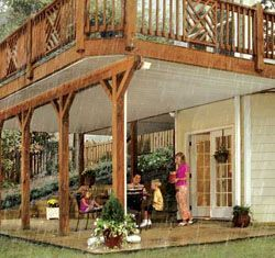 Dry Snap Under Deck Rain Carrying System Patio Under Decks House Exterior Building A Deck