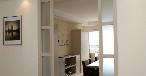 759452 salle a manger moderne la porte coulissante vitree - Porte vitree a galandage ...