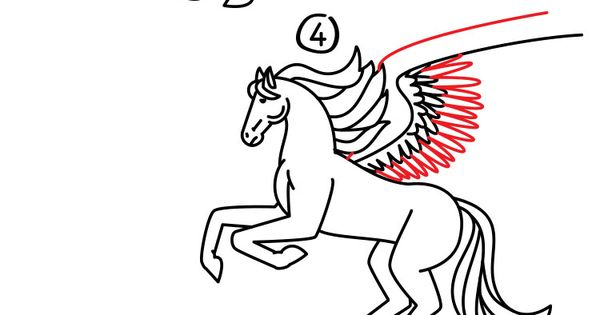 how to draw a realistic pegasus