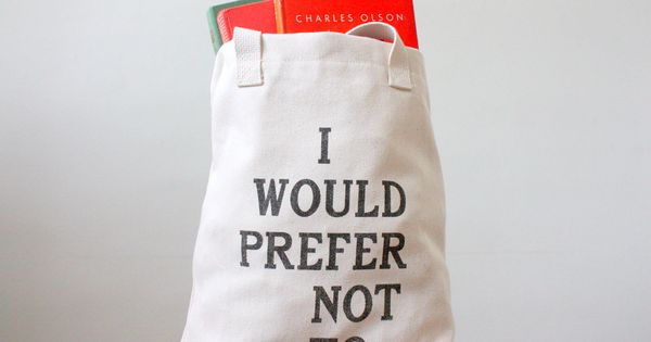 Bartleby Tote Bag - Screen Printed Book my shoes girl fashion shoes