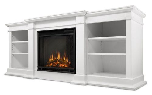Nu Flame Radia Black Heat Resistant Powder Coat Wall Mounted Fireplace Tempered Clear Glass