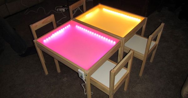 Light table tisch led streifen plexiglas eventuell for Leuchtkasten ikea