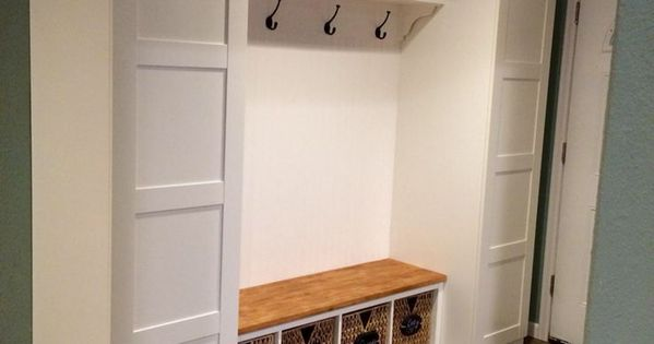 ikea mudroom hack pax closets ekby shelf and corbels gerton desk top kallax bench seat and. Black Bedroom Furniture Sets. Home Design Ideas