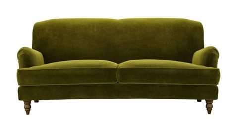 Color On Trend Deep Mossy Olive Green Traditional Sofa Olive