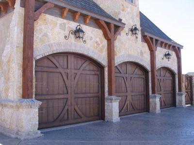 Love The Garage Lights Anyone Know Where To Find Them Wooden Garage Doors Garage Door Design Wood Garage Doors