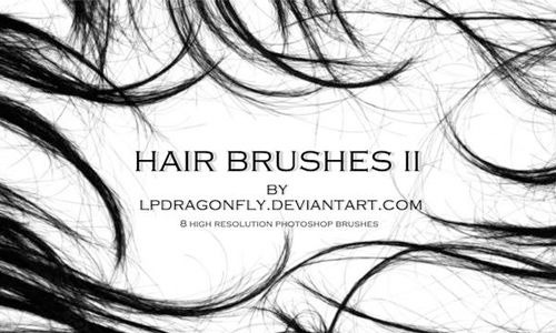 A Collection Of Free Photoshop Hair Brushes Photoshop Hair
