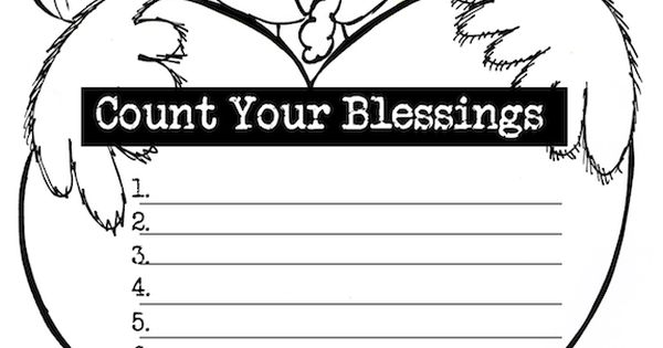 free turkey gratitude worksheet title count your blessing perfect for my thanksgiving. Black Bedroom Furniture Sets. Home Design Ideas