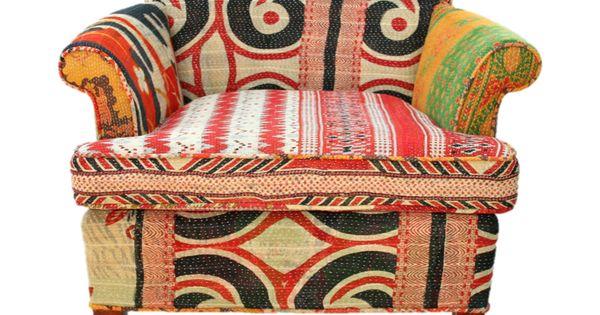 xx..tracy porter..poetic wanderlust..-Vintage Kantha Chair | Lochan