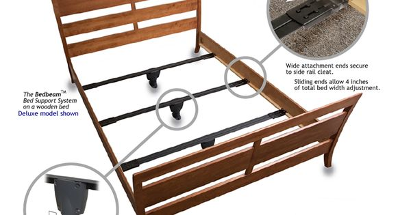 Full Bed Beam Support System Deluxe Bed Frame Legs Wooden