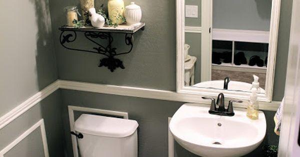 Half Bath Ideas On A Budget: Little Bit Of Paint: Thrifty Thursday: Bathroom Reveal