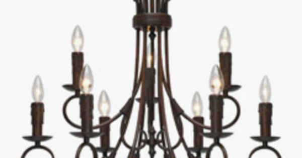 Foyer Light Fixtures Menards : Highland light quot rubbed bronze candelabra chandelier