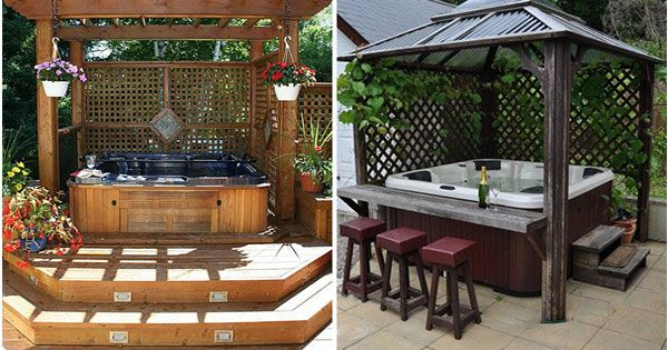 No To Everything Build A Bar On On Side Of Hot Tub And Pergola