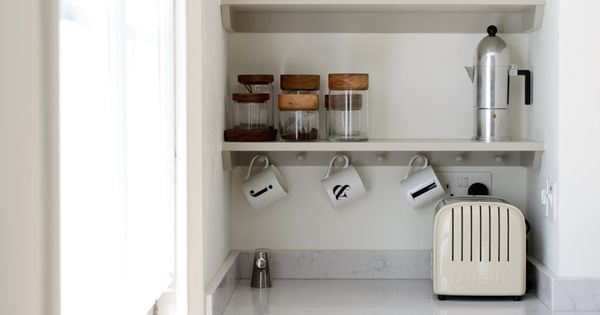 Open Shelves Make The Most Of This Narrow Alcove Perfect