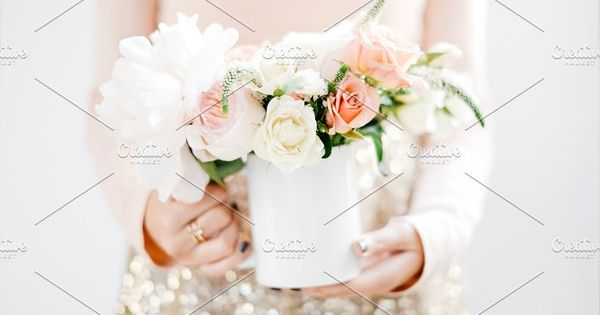 Coffee Mug – holding flower with hands