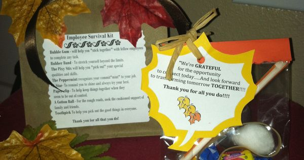 Employee Survival Kits Back To School For Teachers With