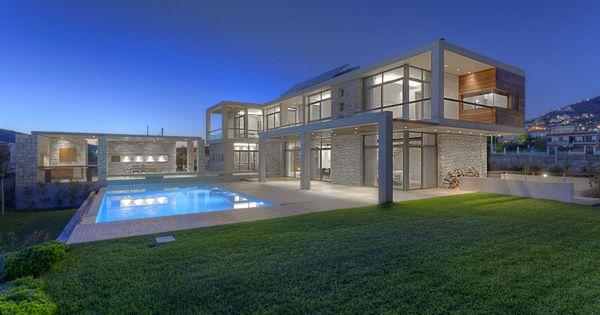 Stone house in anavissos whitebox modern modernhomes for Www dreamhomes com