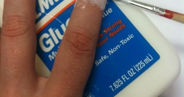 Oh my word, people are so ingenius. Instead of using tape to aid in clean up of intricate nail designs (like water marbling), use Elmer's glue, let it dry, go crazy with paint, and then peel off the glue. BRILLIANT! For those of us who suck at painting na...