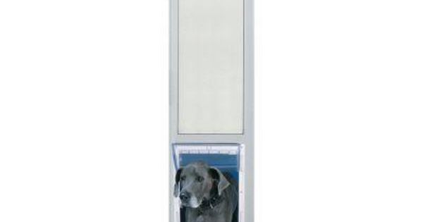 Ideal Pet 15 In X 20 In Super Large White Pet And Dog Patio Door Insert For 77 6 In To 80 4 In Tall Aluminum Sliding Door 80patslw Pet Patio Door Patio Dog Door Patio Doors