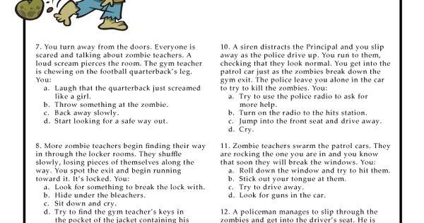 zombie apocalypse survive quiz pdf