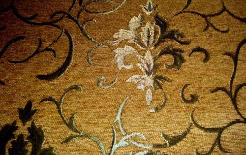 Polsterstoff Möbelstoff Stoff Barock Antik Neu Jaquard Chenille Webstoff Braun