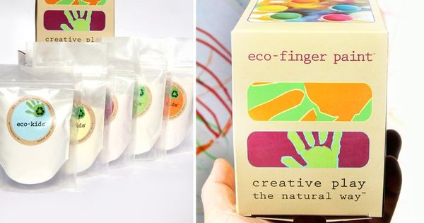 Finger paints made from all natural organic fruits, plants, and veggie extracts