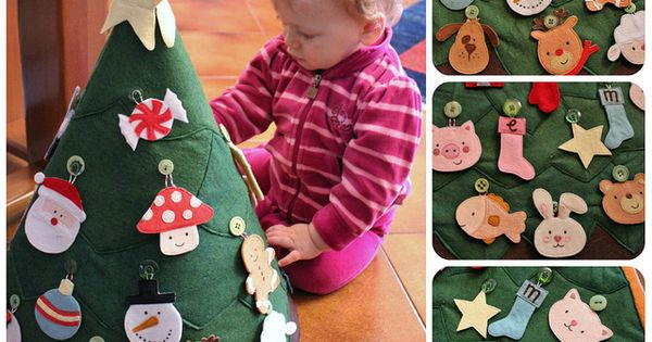 Make for Milo Toddler Christmas Craft Fuzzy felt tree- link is dead