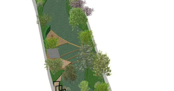Long narrow side yards designing garden design for Garden designs by jacqueline