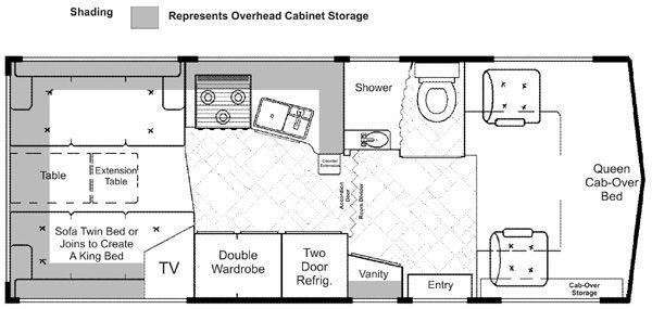 Lazy Daze 24 Twin King Bed Floor Plans Motorhome Remodel Flooring