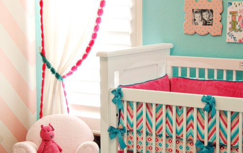 Baby Girls Nursery love the color combo