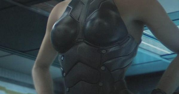 Spread eagle corset bondage