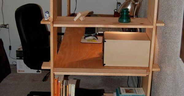 Diy dorm room crafts DIY Nomad Bookshelves Desk