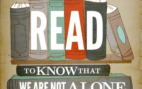 We Read to Know We Are Not Alone - 15 Cool Typography