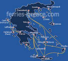 Naxos Ferry Boats Bateaux Pour L Ile De Naxos Cyclades Grece
