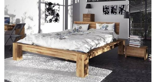 The Beds James Solid Wood Bed High 1601 180x200 Cm Wild Oak Gray 180x200 Bed Beds Gray High James Oak Solid Wild Wood In 2020 Solid Wood Bed Bed High Beds