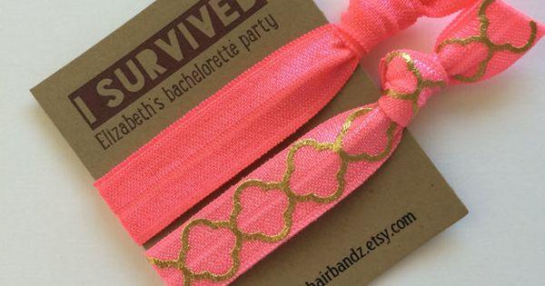 Custom Bachelorette Party Favors Gifts I by ElasticHairBandz