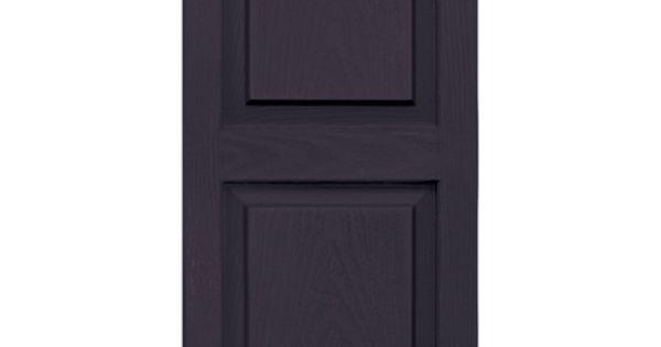 Vantage plum raised panel vinyl exterior shutters for Vinyl shutter paint lowes