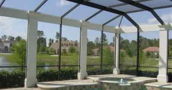 Decorative Columns For Pool Enclosures Screen Rooms Other Enclosures By Florida Pool Enclosures Florida Pool Pool Pool Enclosures