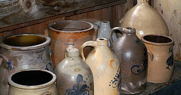 Great Crocks My Husband And I Collect Old Crock And Jugs We Have Them All Around Our Home Antique Stoneware Antique Crock Antique Crocks