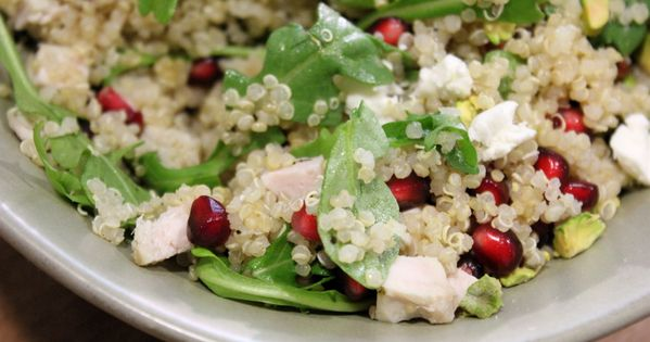 Winter Quinoa Salad - great for Turkey leftovers! // from Apples &