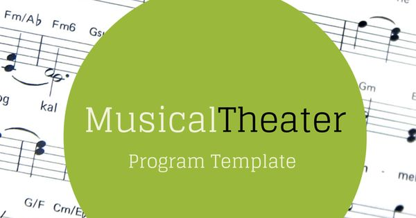 free musical theater program template  u2014 with dummy