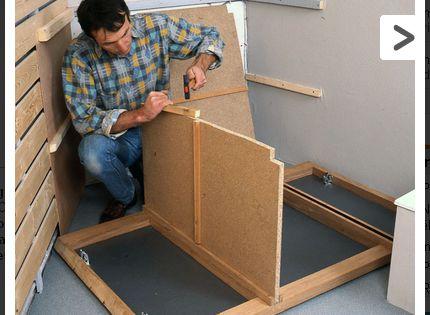 comment fabriquer soi m me un meuble pour le lavabo fabriquer soi meme lavabo et meubles. Black Bedroom Furniture Sets. Home Design Ideas