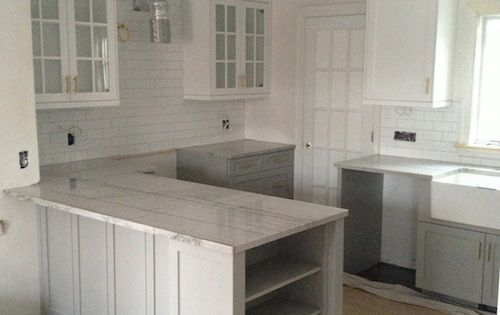 Cabinets Painted In Cape May Cobblestone By Benjamin Moore