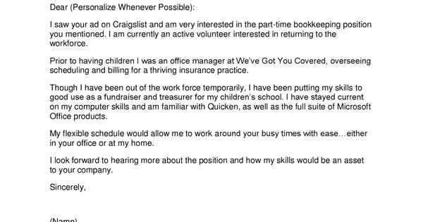 Sample Cover Letter For Bookkeeper Http Www