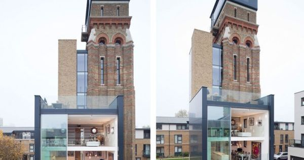 Stunning Water Tower Conversion in London interior architecture house design interiorideas decorideas