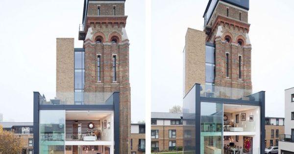 Stunning Water Tower Conversion in London interior architecture house design interiorideas decorideas
